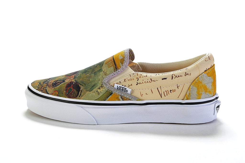 Classic Slip-On - (Vincent Van Gogh) Skull/True White