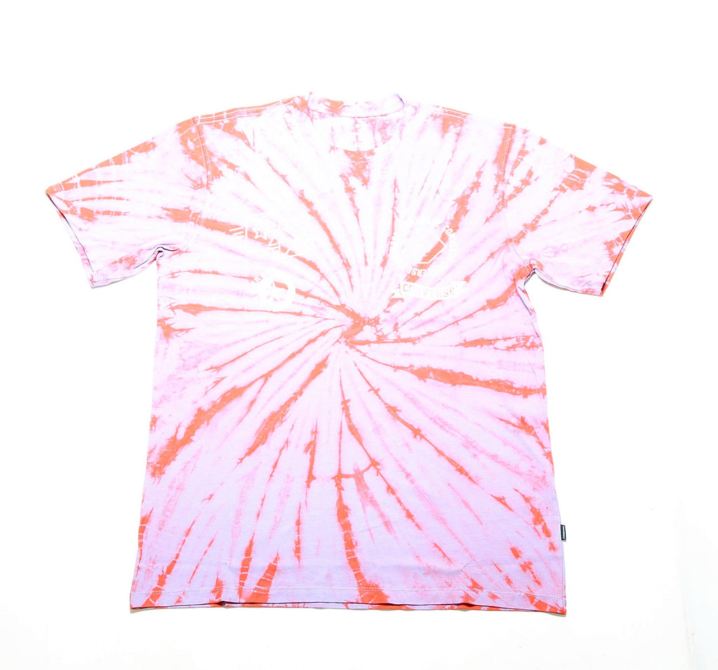 Tie Dye Multi Graphic Tee - Rush Coral
