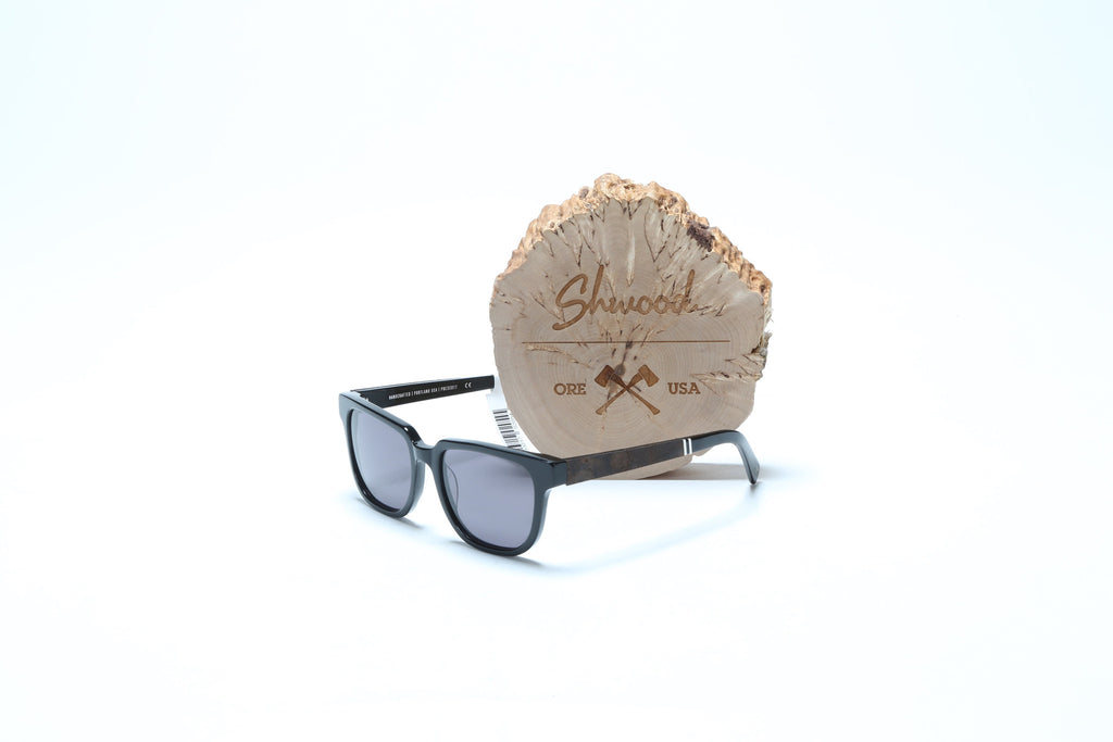 Prescott Sunglasses - Black//Elm Burl-Grey