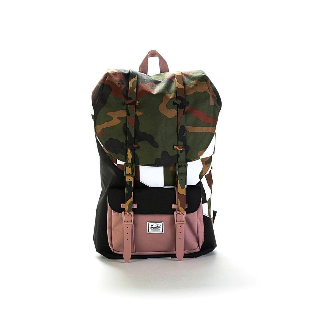 Little America Backpack - Woodland Camo/Ash Rose/Checker