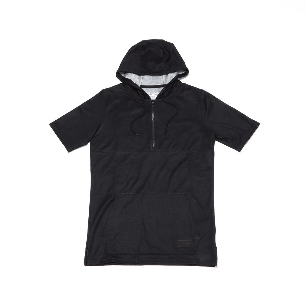 Courtside SS Hooded Tee - Black/True Grey Heather/Black