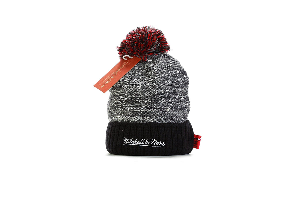 NBA Marled Pom Knit - Chicago Bulls) Grey/Black