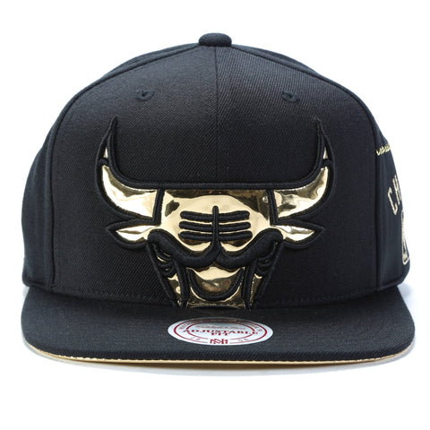 6204fd82 ... gold snapback black red 95109 1b517; best price mitchell ness. patent  cropped snapback chicago bulls e1141 6118f