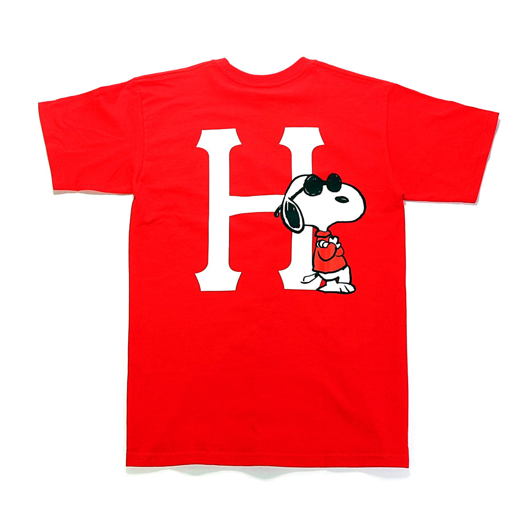 Peanuts Joe Cool Classic H S/S Tee - Red