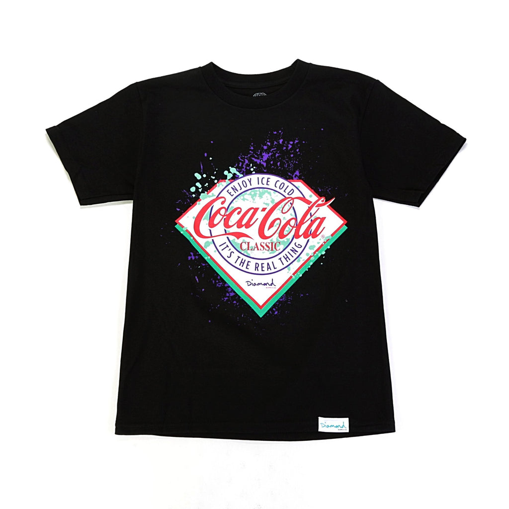 Paint Splatter Tee - (Coca Cola) Black