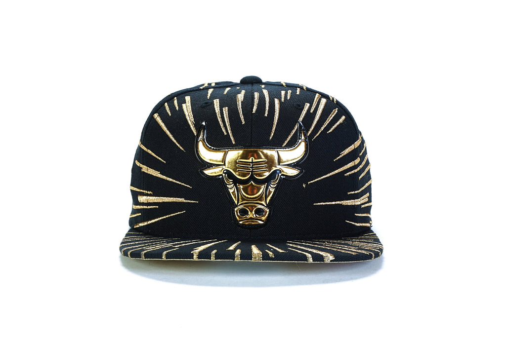 premium selection 2629a df3bf ... Nucleo Gold Snapback - (Chicago Bulls) Black Gold ...