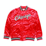 NBA Light Satin Jacket - (Chicago Bulls) Red