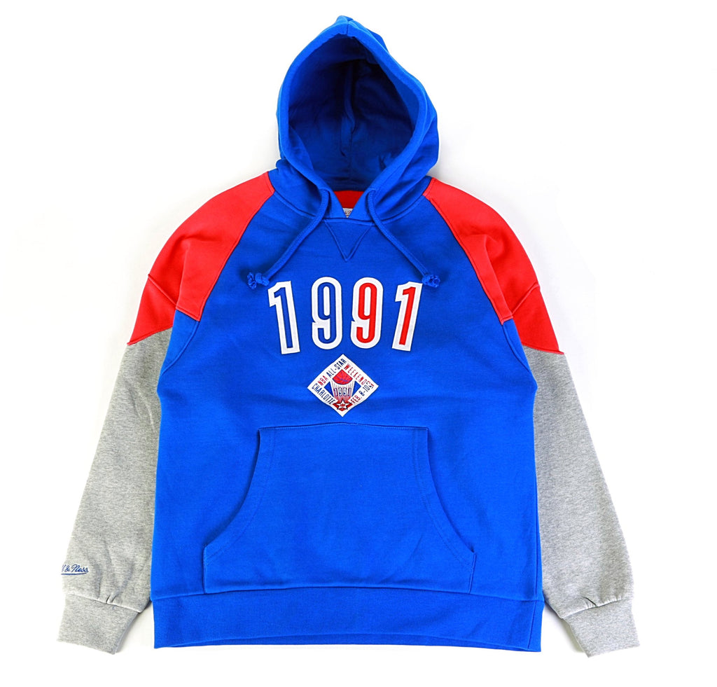 NBA '91 All Star Trading Block Hoodie - Red/White/Blue