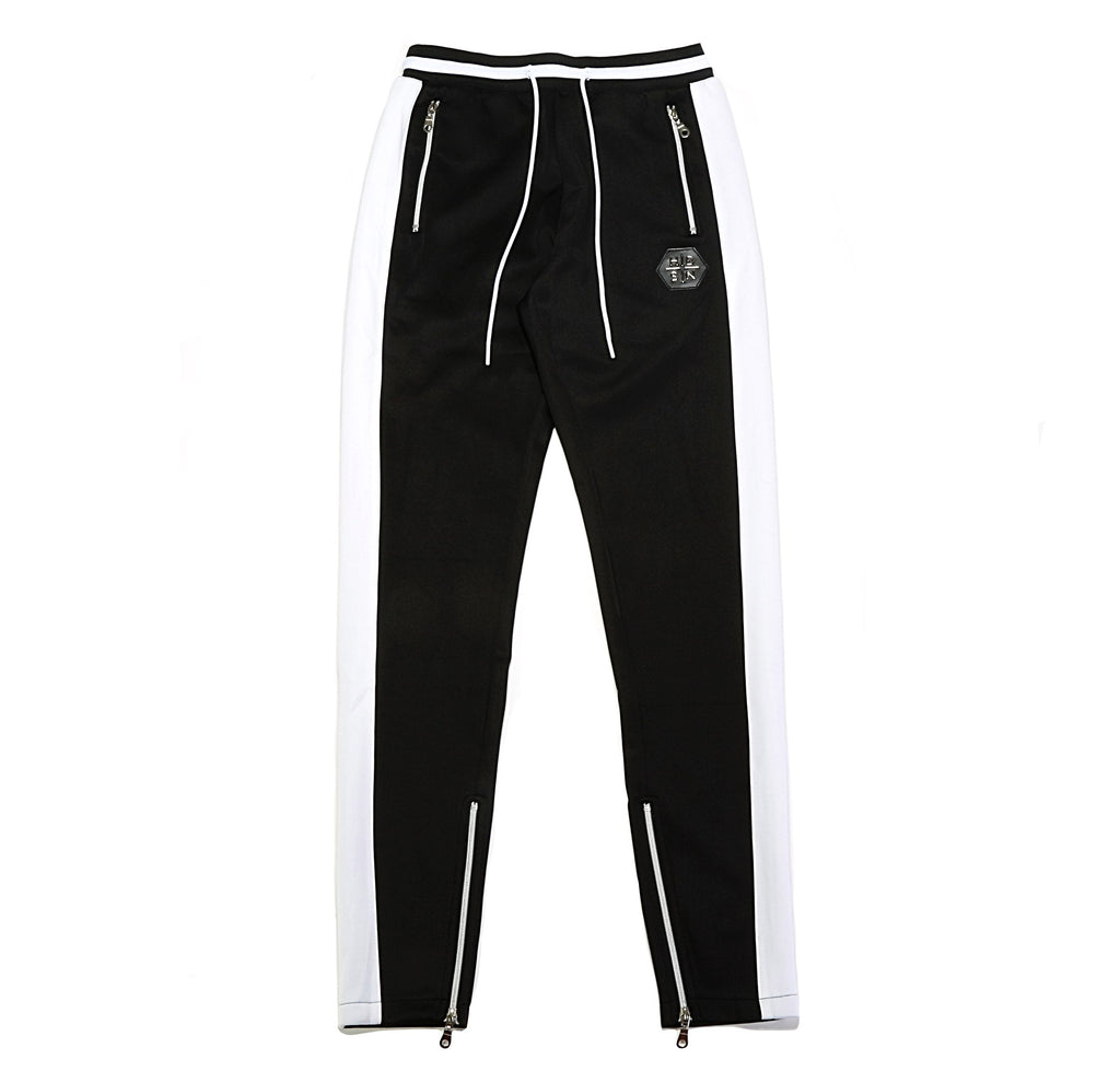 Striped Track Pant - Black/White