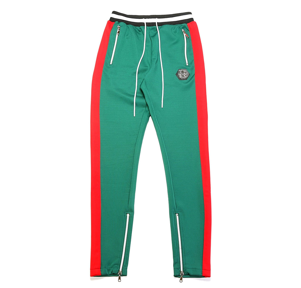 Striped Track Pant - Green/Red
