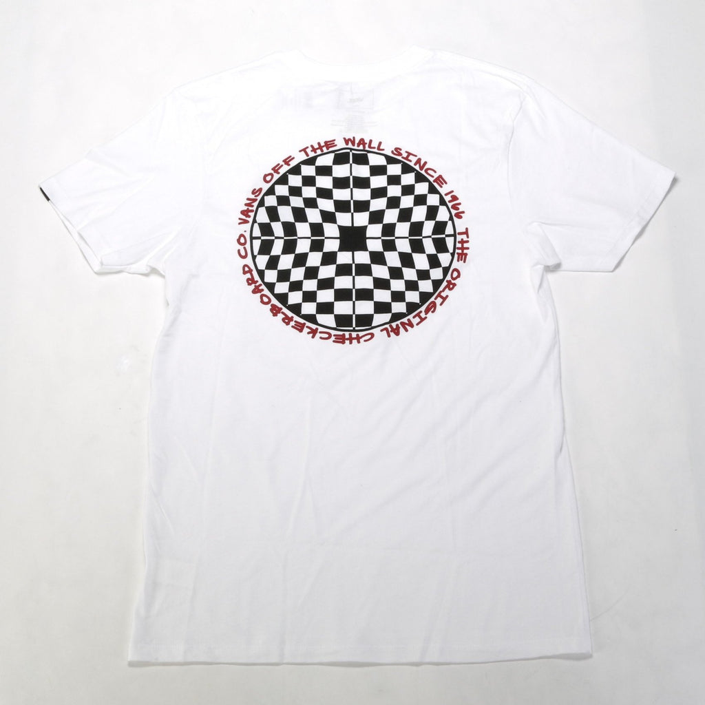 Checkered SS Tee - White
