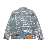 Doodle Denim Jacket - (Basquiat) Medium Wash