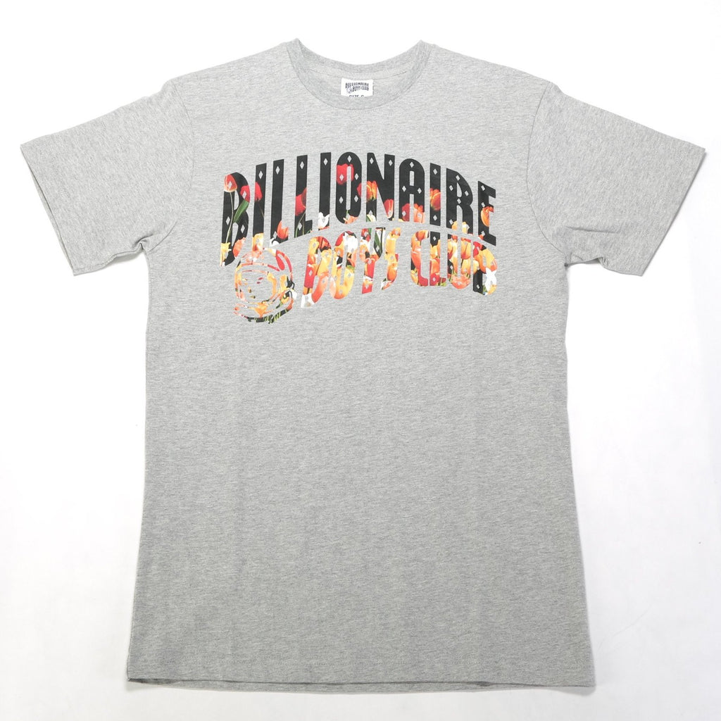 BB Floral Arch SS Tee - Heather Grey