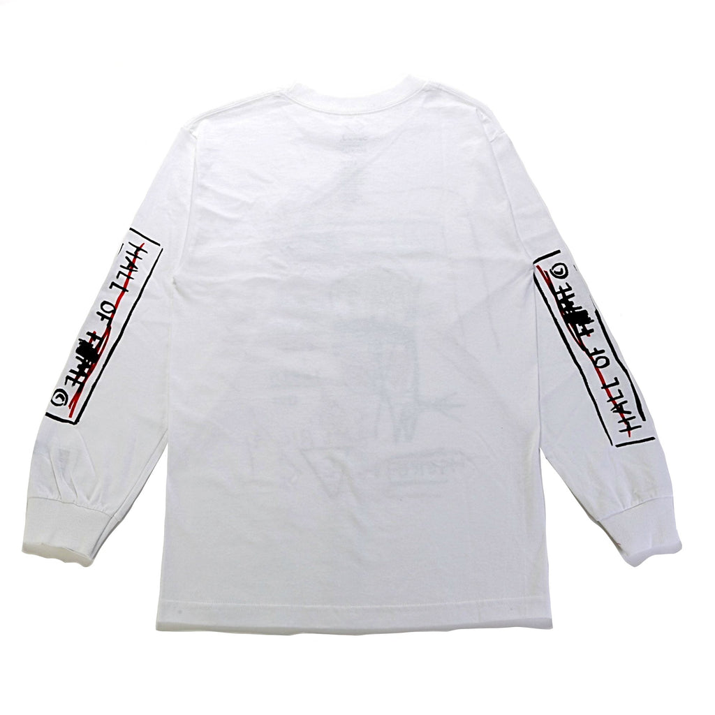 Hall of ??? L/S Tee - (Basquiat) White