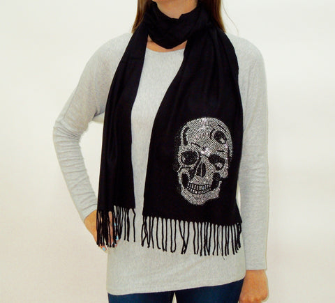 BLING SCARF WITH SKULL
