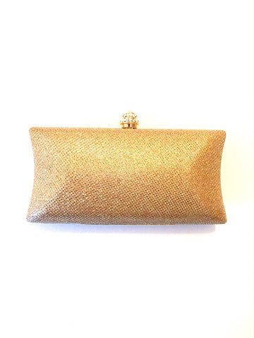 Evening Sparkle Clutch- Yellow Gold