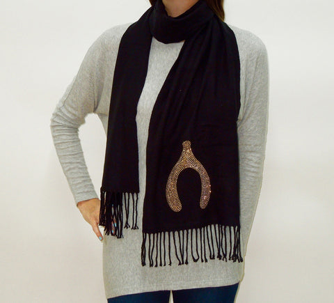 BLING SCARF WITH WISHBONE
