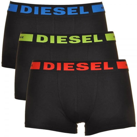 Diesel Men's UMBX-Kory 3 Pack Boxer Shorts - Black