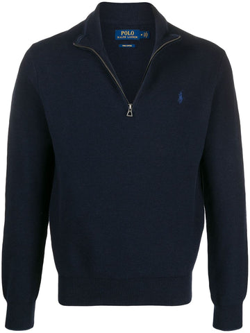 Ralph Lauren Men's 'POLO' Cotton Half-Zip Sweater - Navy