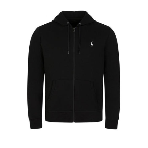 Ralph Lauren Men's 'POLO' Double-Knit Full-Zip Hoodie - Black