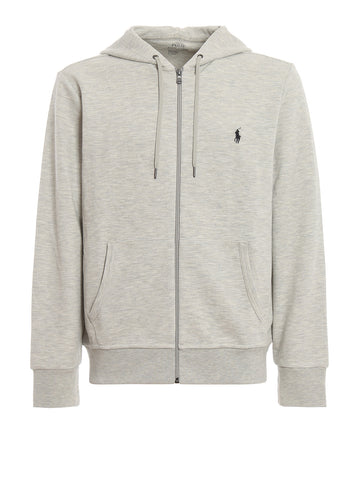 Ralph Lauren Men's 'POLO' Double-Knit Full-Zip Hoodie - Lt Sport Heather