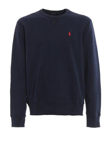 Ralph Lauren Men's 'POLO' Fleece Crewneck Sweatshirt - Navy