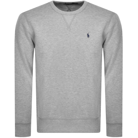Ralph Lauren Men's 'POLO' Fleece Crewneck Sweatshirt - Grey