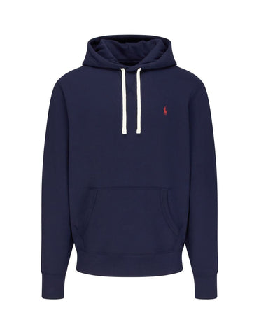 Ralph Lauren Men's 'POLO' Fleece Hoodie - Navy