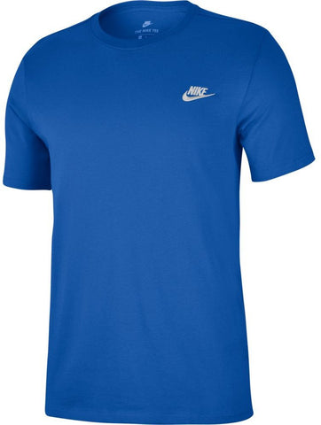 Nike Swoosh Futura Men's T-Shirt - Royal Blue