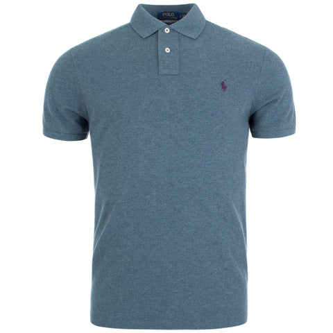 Ralph Lauren Men's Short Sleeved 'POLO' Shirt - Light Mark Blue