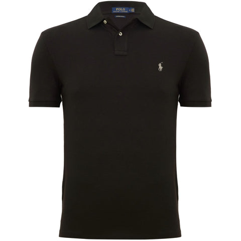 Ralph Lauren Men's Short Sleeved 'POLO' Shirt - Black