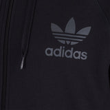 adidas 'Originals' SPO Trefoil Hooded Track Top - Black