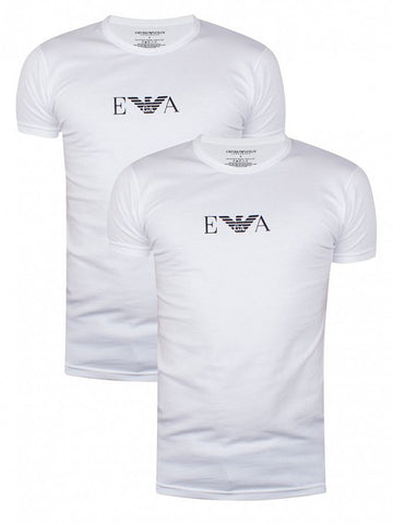 Emporio Armani 2 Pack Crew Neck T-Shirts - White