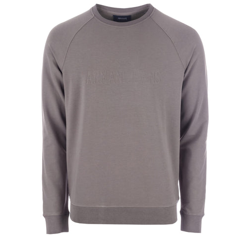 Armani Men's Crew Neck Sweatshirt - Grey