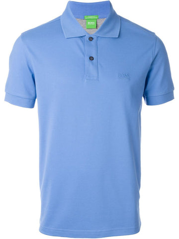Hugo Boss 'Green Label' C-Firenze Logo Men's Pique Polo Shirt - Royal Blue