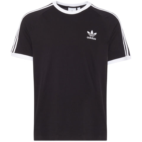 adidas 'Originals' 3-Stripes T-Shirt - Black