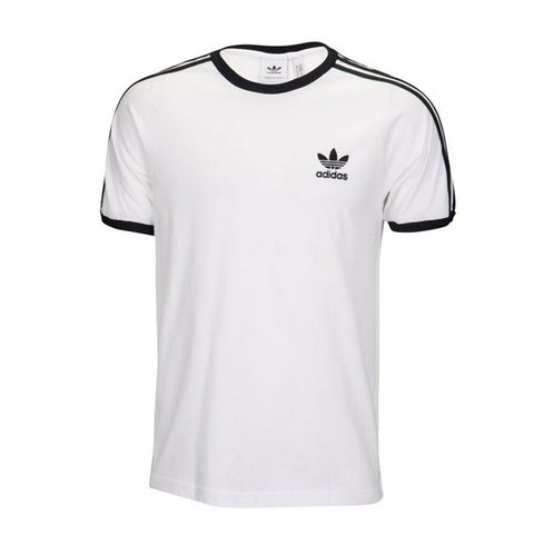 adidas 'Originals' 3-Stripes T-Shirt - White