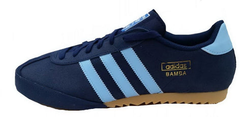 adidas Originals Bamba Trainers - Navy and Light Blue