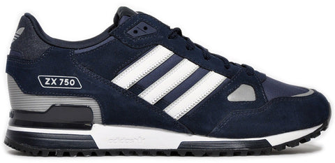 huge selection of e9b2f 94db1 adidas Originals ZX 750 Men s Trainers - Navy White