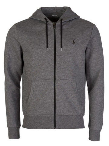 Ralph Lauren Men's 'POLO' Double-Knit Full-Zip Hoodie - Foster Grey