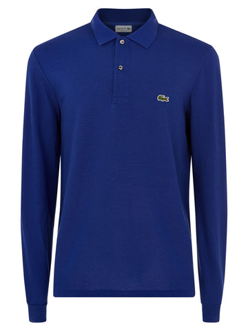 Lacoste Men's Classic Long Sleeved Polo Shirt – Ocean Blue