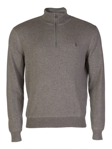 Ralph Lauren Men's 'POLO' Cotton Half-Zip Sweater - Fawn Grey