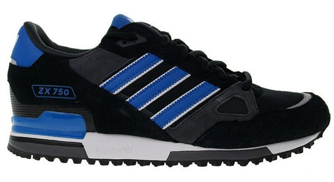 adidas Originals ZX 750 Men's Trainers - Black/Blue