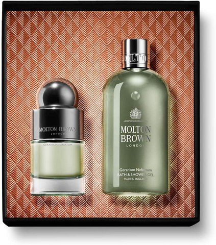 Molton Brown Geranium Nefertum Shower Gel 300ml & Eau De Toilette 50ml Gift Set