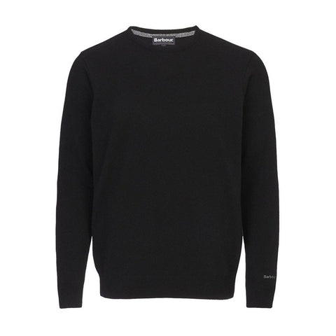 Barbour Men's Essential Lambswool Crew Neck Jumper - Black