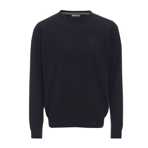 Barbour Men's Essential Lambswool Crew Neck Jumper - Navy