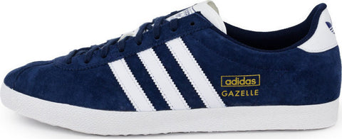 adidas Originals Gazelle OG Men's Trainers - Indigo Blue and White