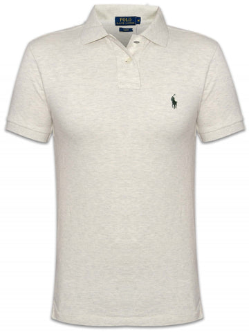 Ralph Lauren Men's Short Sleeved 'POLO' Shirt - Oxford Heather