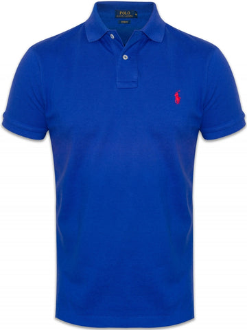 Ralph Lauren Men's Short Sleeved 'POLO' Shirt - Graphic Royal