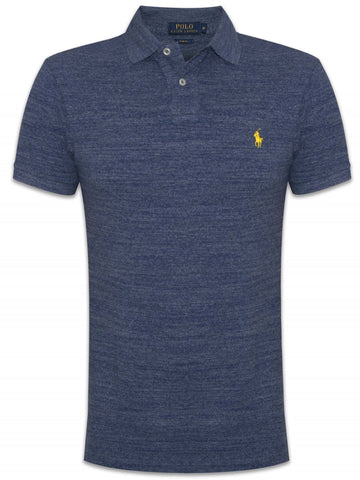 Ralph Lauren Men's Short Sleeved 'POLO' Shirt - River Blue Heather